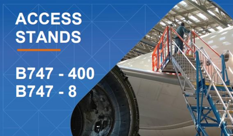 Maintenance Access Stands for Boeing 747 commercial and cargo aircraft