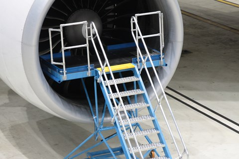 Delivery of 2 B777 Engine Inlet Access Stands for safe maintenance & inspection