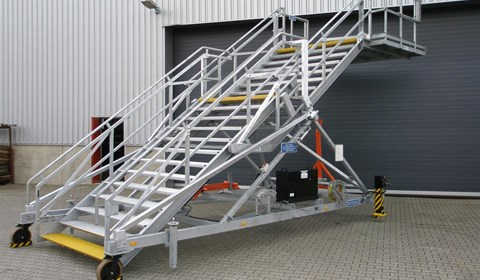 Aircraft Door Stand Variable Height
