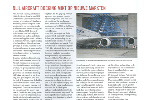 Mooi artikel in LINK magazine over NIJL Aircraft Docking!